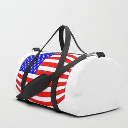 USA Stars and Stripes Flag Wide Duffle Bag