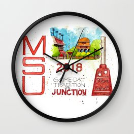 2018 MSU Game Day - The Junction Wall Clock
