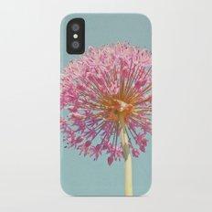 Pink Allium iPhone X Slim Case