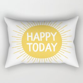 Happy Today - Yellow Sunshine Quote Rectangular Pillow