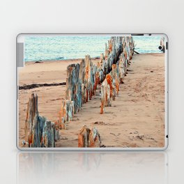 Wharf Remains on the Beach Laptop & iPad Skin