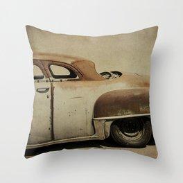 Rusty Chrysler De Soto Throw Pillow