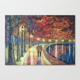 Evening love Canvas Print