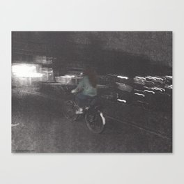 Julia Stole a Bike Canvas Print