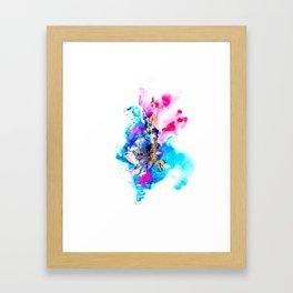 Burst Abstract Artwork Framed Art Print