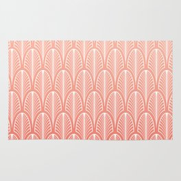 Peach Art Deco Pattern | Blush Pink Rug