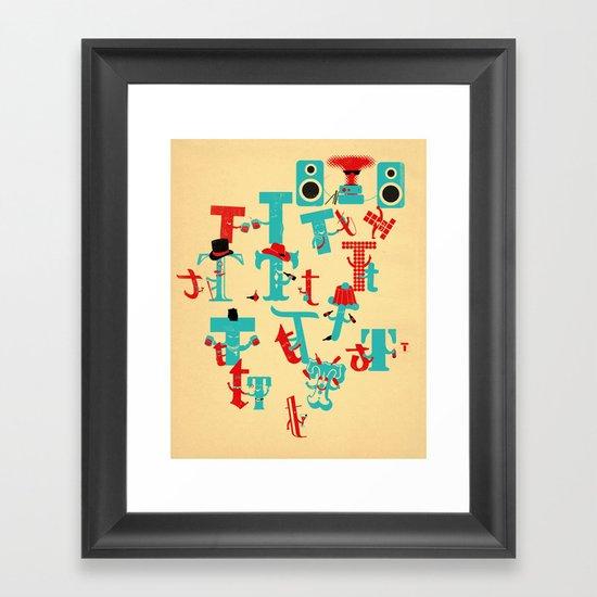 T Party Framed Art Print