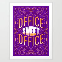 the office Art Prints featuring Office Sweet Office by Roberlan Borges