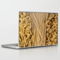 pasta Laptop & iPad Skins featuring Different kind of pasta by Joseagon