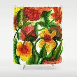 Flowers to Daniel Shower Curtain