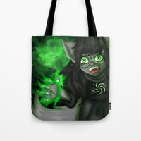 homestuck Tote Bags featuring Homestuck: Grimbark Jade by EternalAshley225