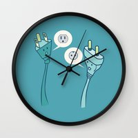 lost in translation Wall Clocks featuring LOST IN TRANSLATION by AnishaCreations
