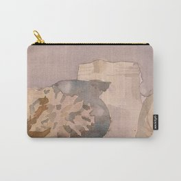 Watercolor Still Life in Purple and Yellow Carry-All Pouch