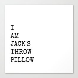 Jack's Throw Pillow Canvas Print