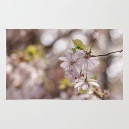 Springblossoms at backlight Rug