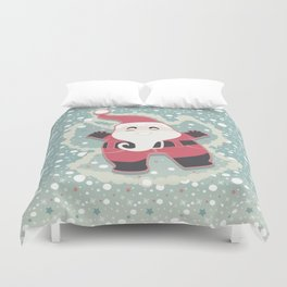 Festive moments - Snow Angel! Duvet Cover