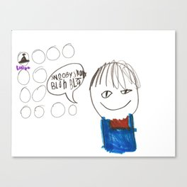 Blah Blah Canvas Print