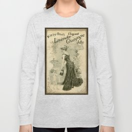 Kitty Pearl's Elegant Lavender Champagne Jelly Long Sleeve T-shirt
