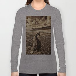 Driftwood Sepia Long Sleeve T-shirt