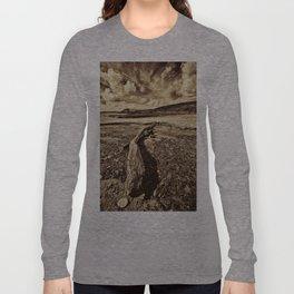 Driftwood Sepia Long Sleeve T-shirt