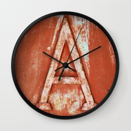 A - LETTER - PHOTOGRAPHY Wall Clock