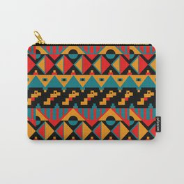 Boho Geometric Pattern Carry-All Pouch
