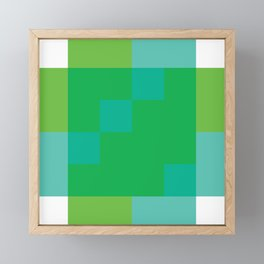Ocean Pixel Views Framed Mini Art Print