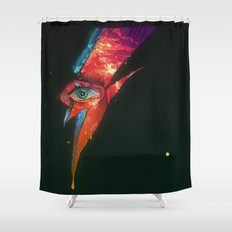 BLACK GLAM TEAR Shower Curtain