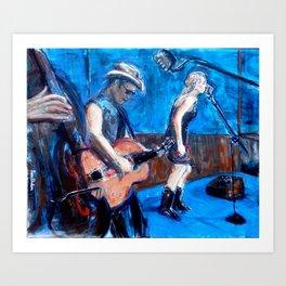 Rockabilly Musicians Art Print