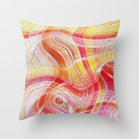 acid Throw Pillows featuring Acid by Fine2art