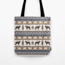 Boho dogs | Borzoi / Russian wolfhound tan Tote Bag