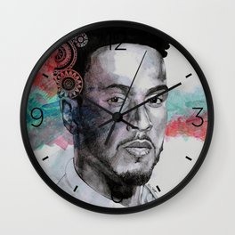 King Hammer: Tribute to Lewis Hamilton Wall Clock