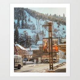 Spring in Park City, Utah Art Print