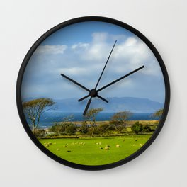 Isle of Arran from Portencross in Ayrshire Wall Clock