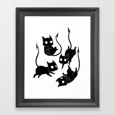 Demon Cats Framed Art Print