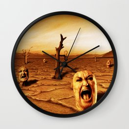 Gritos Wall Clock