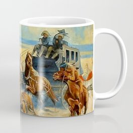 "Frederic Remington Western Art ""Downing the Nigh Leader"" Coffee Mug"