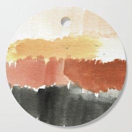 Abstract in Rust n Clay Cutting Board