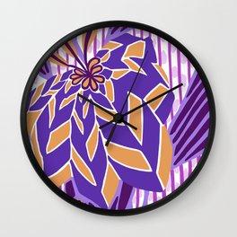 BAYAMO: MYSTERIAN, Art Deco Tropical Wall Clock