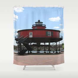 Seven Foot Knoll Lighthouse Shower Curtain
