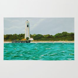 Egmont Key Lighthoues Painting Rug