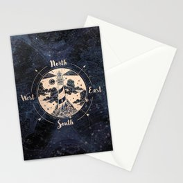 Compass World Star Map Stationery Cards