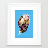monkey Framed Art Prints featuring Monkey by beart24