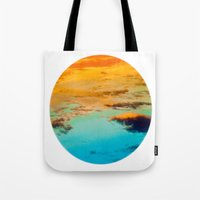 swim Tote Bags featuring Swim by Rick Staggs