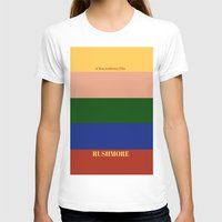 rushmore T-shirts featuring Rushmore minimalist poster by cinemaminimalist