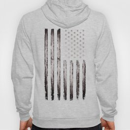 American flag White Grunge Hoody