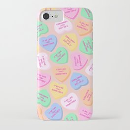 """It Be Like That Sometimes"" Candy Hearts Valentine's Day iPhone Case"