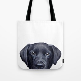 Labrador with white background Dog illustration original painting print Tote Bag