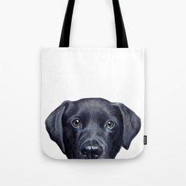 Labrador with white background Dog illustration original painting print Tote Bag