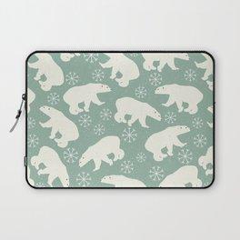 Merry Christmas - Polar bear - Animal pattern Laptop Sleeve